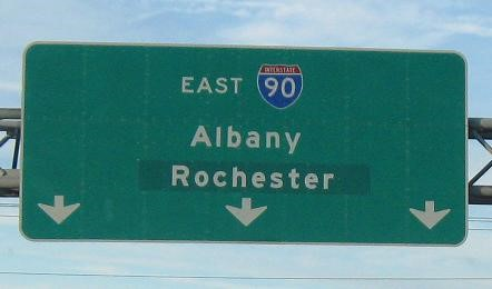 East I-90 Rochester Sign